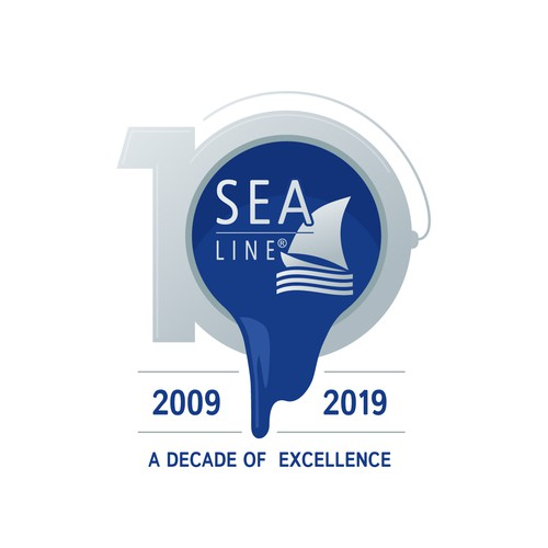 10th Anniversary Logo for a Yachting Paint Company