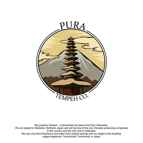 Logo for Pura tempeh co.