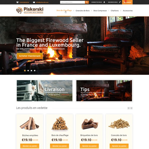 Redesign a stuning responsive e-commerce website for firewood