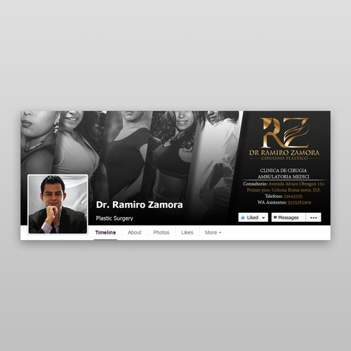 Dr. Ramiro Facebook Design Black and White
