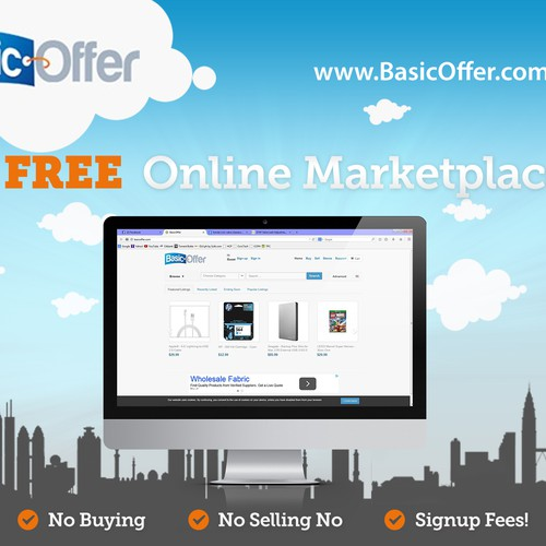 Create a marketing Postcard for BasicOffer