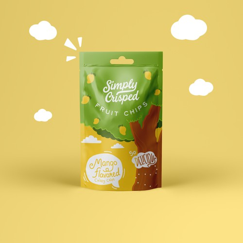 Packaging concept for Simply Crisped Fruit Chips
