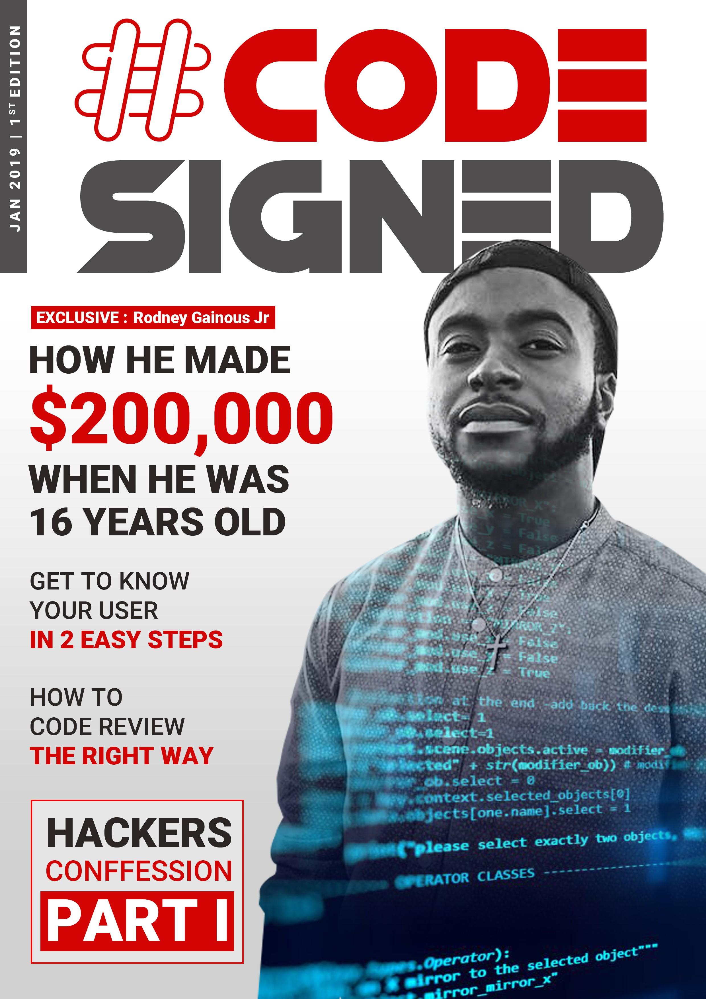 Design a #CodeSigned Magazine Cover for Millenials