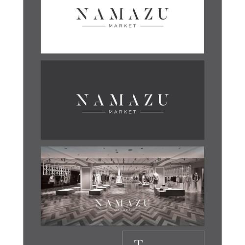 créer un logo luxueux et épuré pour Namazu Market