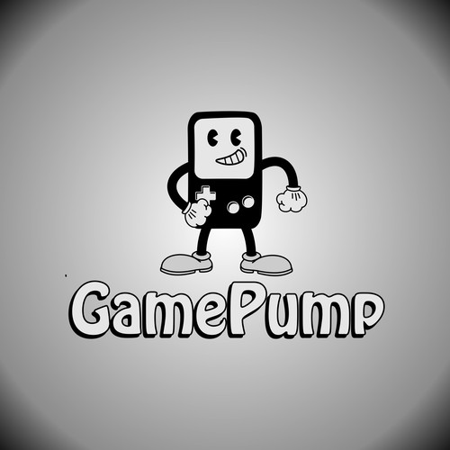 Retro video game mascot