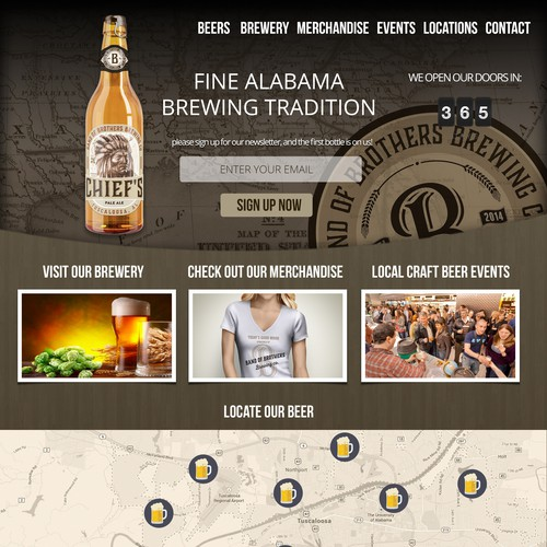 Creat Landing Page for New Craft Brewery