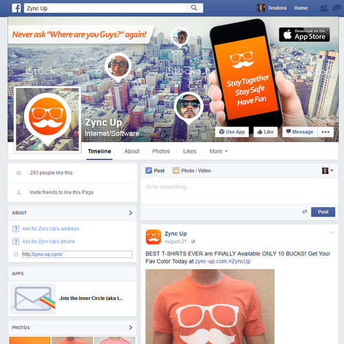 Facebook cover for app