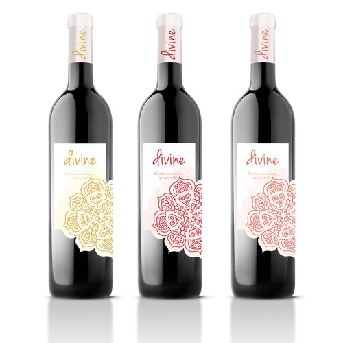 Divine wine label