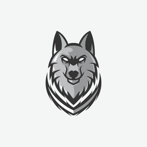 wolf logo concept for fenrir