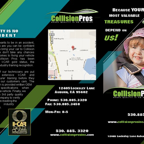 brochure design for Collision Pros