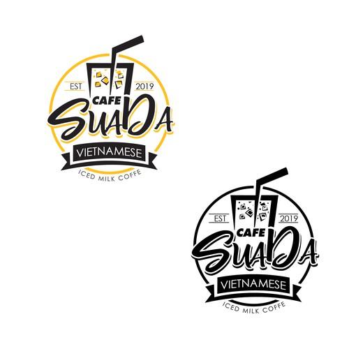 Design a cool logo for iced coffee lovers, Cafe Sua Da