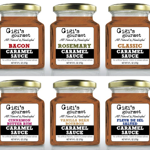 Gigi's Gourmet needs a label design