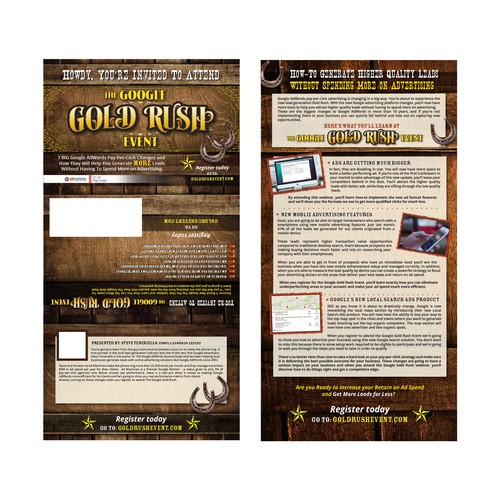 Western Style 3-Fold Direct Mail Event Postcard