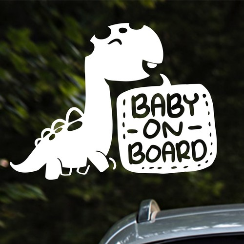 sticker design concept for tiptoe baby safety