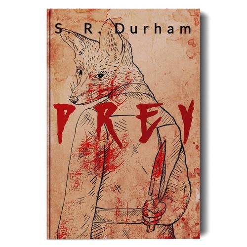 Front cover design for debut thriller / survival horror novel