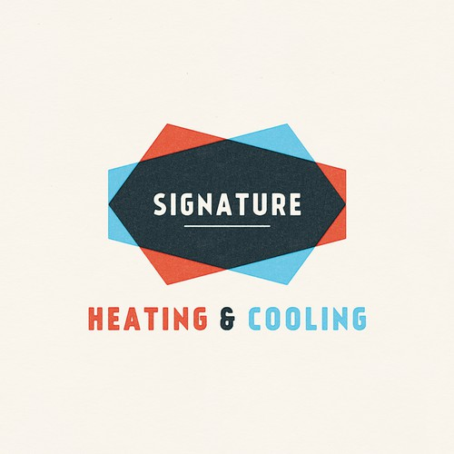 Clean, modern, bold logo for heating and cooling company