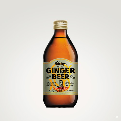 Label Design for a Ginger Beer Co