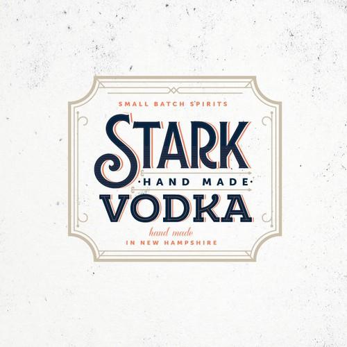 Retro label for a vodka brand