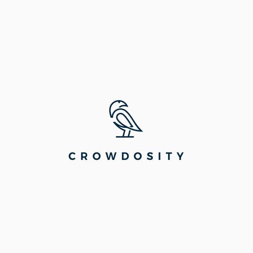 Minimal bird logo concept.