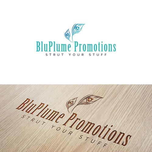 Create a captivating logo and website for a marketing company, BluPlume