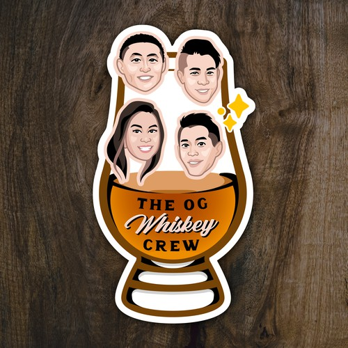 Whiskey Gift Sticker