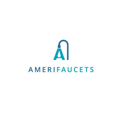 AmeriFaucets logo concept