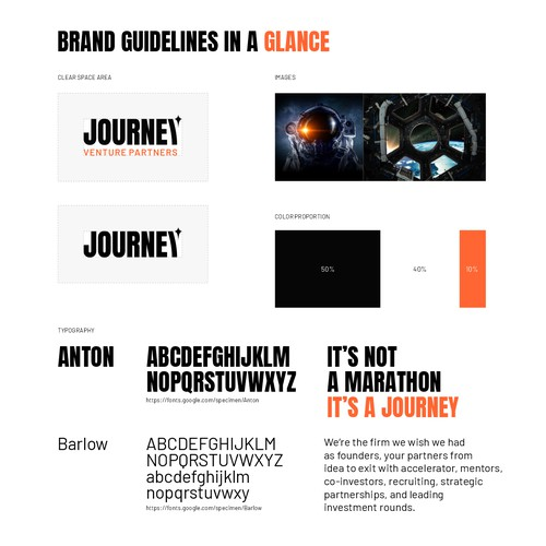 Simple Brand Guide for JOURNEY
