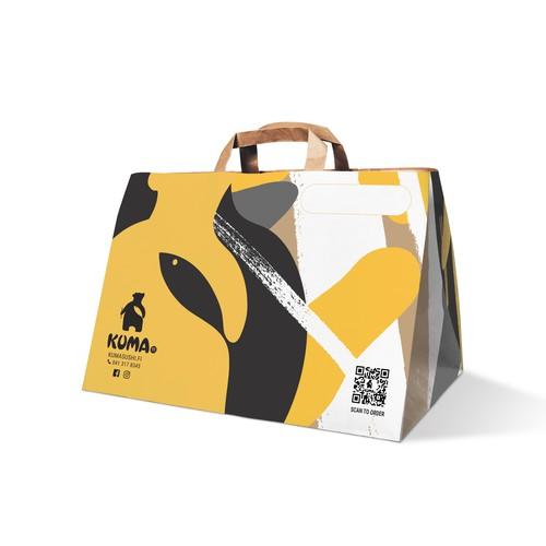 Takeaway paper bag