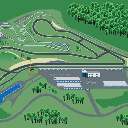 Map design for a Motorsports Park