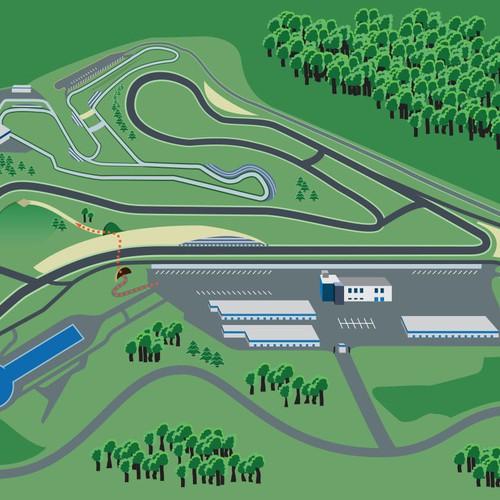 Map design for a Motorsports Park