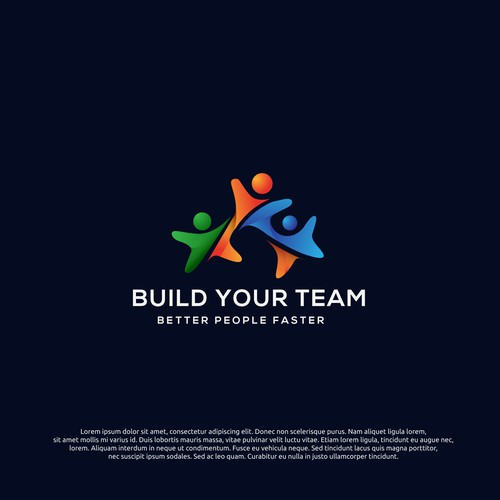 logo concept for build your team