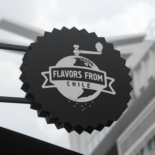Logo design for the food subscriptionbox Flavors From
