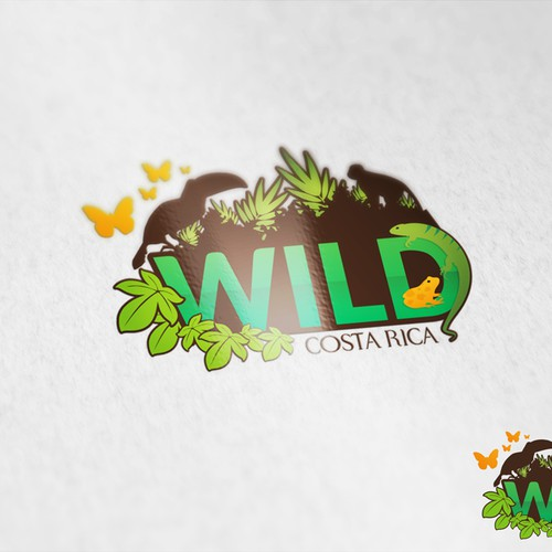 Capture the excitement of the COSTA RICAN RAINFOREST in one, WILD logo!