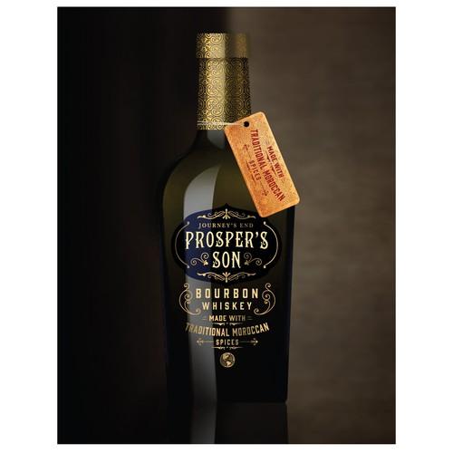 Bourbon whiskey label