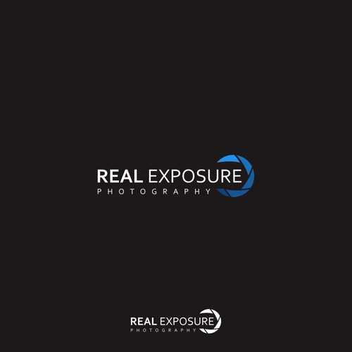 logo design for real exposure photography