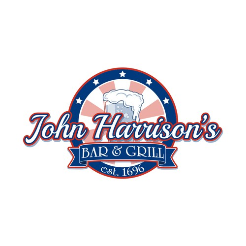 Logo Design for John Harrison's Bar & Grill
