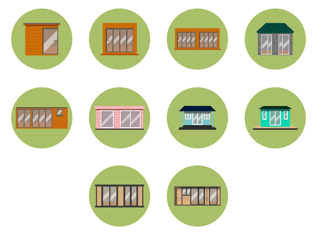 Icons for new garden office start up