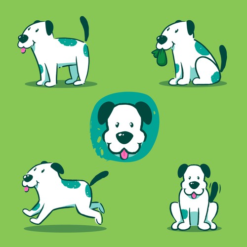 Eco-Friendly dog illustration