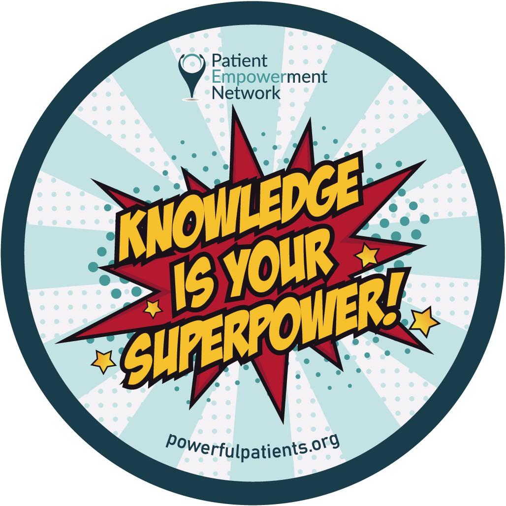 Knowledge Is Your Superpower! Sticker