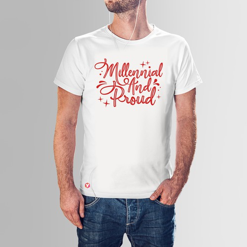 T-shirt design for the Millennial online education platform needs