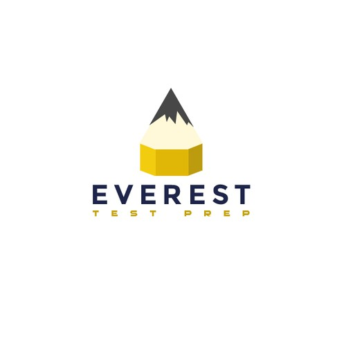 Bold Logo that blends a pencil as a mountain
