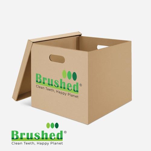 brushed logo design