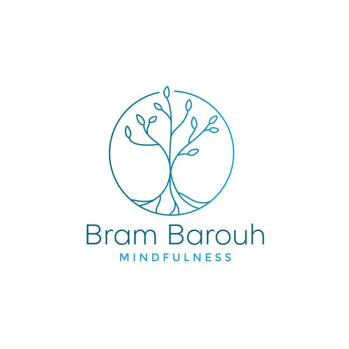 Simple and clean educational meditation logo, symbolising the idea of growth