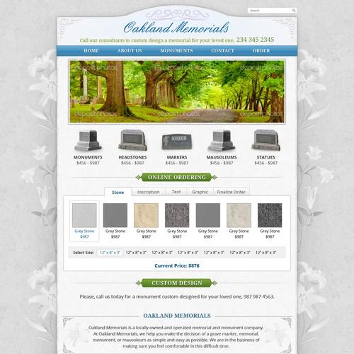 Create the next website design for Oakland Memorials, Inc.