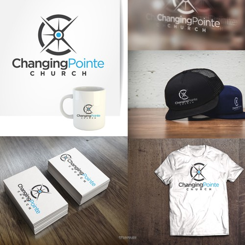 Logo concept for CHANGING POINTE CHURCH