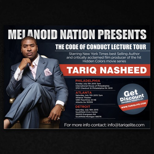 Flyer For Lecture Tour