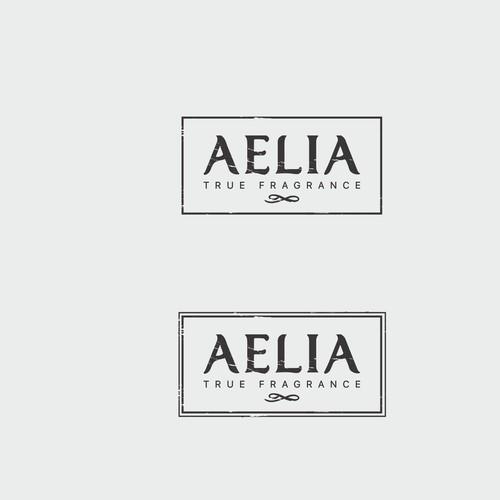 Fun, bold logo for Aelia fragrances