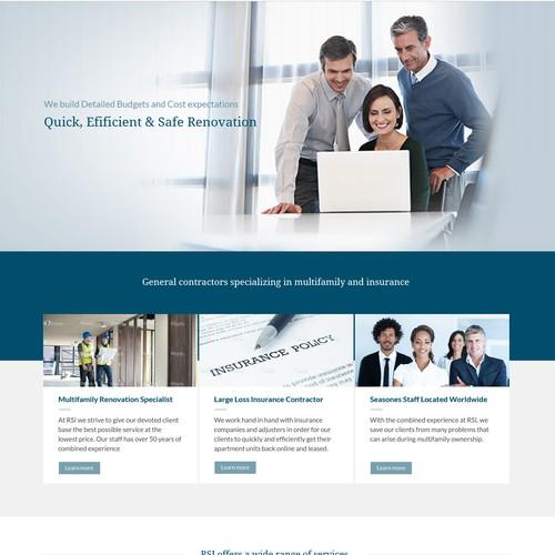 RSI Contractor Website Design