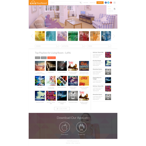 Playlist creation microsite