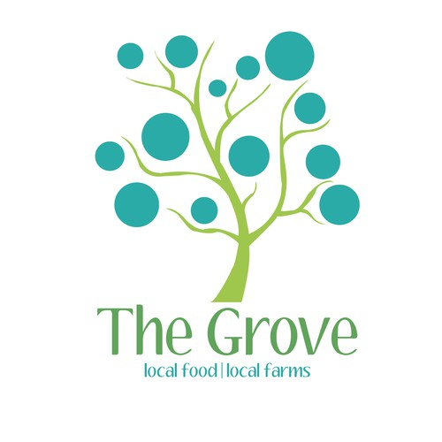 Unique logo design for The Grove